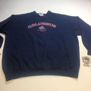 Vintage Mens XL Columbus Blue Jackets Sweatshirt